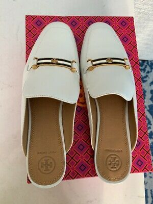 b0604893a TORY BURCH AMELIA Backless Loafer - Women s Size 10M White NEW In ...