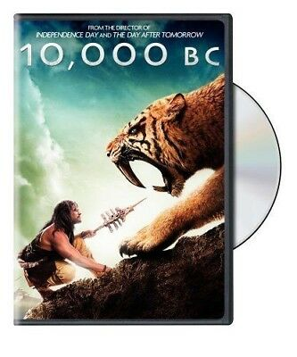 10, 000 B.C. Movie DVD 2008TWO SIDED WIDESCREEN & STANDARD PRE-VIEWED MINT