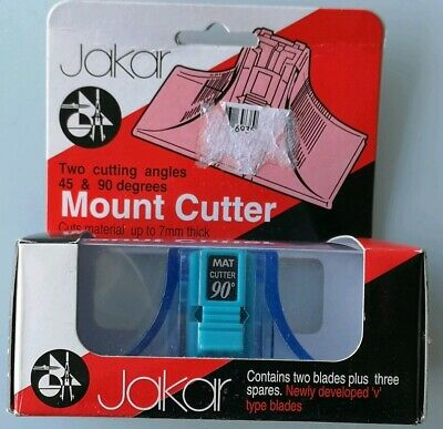 JAKAR MOUNT CUTTER 40 + 90 DEGREE V TYPE BLADES +SPARES CUTS UP TO 7mm THICK NEW