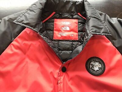 f2e81bdb7 NWOT VANS X The North Face Torrey MTE Coach's Jacket Red Size L