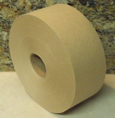 "1 Roll - 3"" x 600 Feet -  Water Activated TAN KRAFT PAPER TAPE"