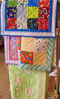 Easy Patchwork Complete Quilt Kit, Girls, Boys Or Neutral, 3 Sizes, 100% Cotton