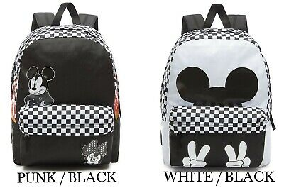 7d11b3f2769 Vans Old Realm Disney X Mickey Mouse Backpack Bag Punk Checkerboard (New)