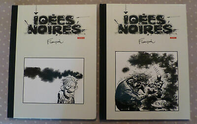 IDEES NOIRES - Franquin Tomes 1 & 2 - TBE - Edition de LUXE TOILE