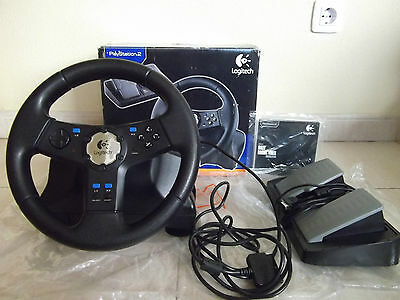Volante logitech para Playstation 2 Play Station 2 PS1 PS2 PSX PC PS3? PS4? .