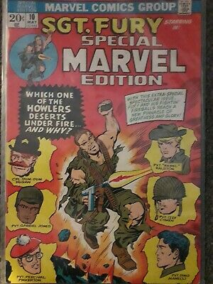 Special marvel edition 10 Sgt Fury and the Howlers vgc