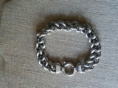 Nice LOT of STERLING SILVER 925  Italy Heavy chain bracelet