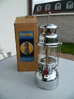 PICOSTAR PETROLEUM LAMPE EDELSTAHL SCHNELLHEIZUNG Made In Germany