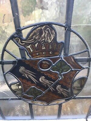 Stained glass window, Armorial