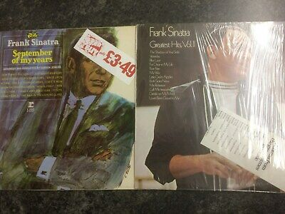 "Job Lot Of Classic 12"" Vinyl Albums By Frank Sinatra - 2 X 12"" Vinyl Lp Records"