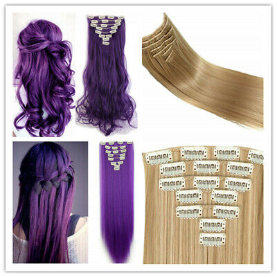 Clip In Hair Extension Curly Full Hair Extension Weft Hairpiece in Natural Style