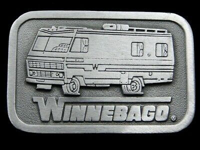RJ13167 *NOS* VINTAGE 1970s **WINNEBAGO** ADVERTISEMENT BELT BUCKLE