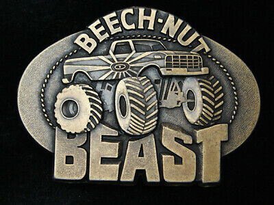 RC07155 *NOS* VINTAGE 1970s **BEECH-NUT BEAST** CHEWING TOBACCO AD BELT BUCKLE
