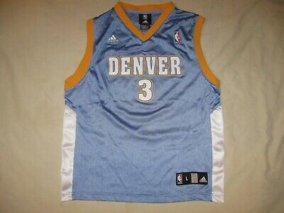 e8b1aac58a4 Allen Iverson Denver Nuggets Jersey Youth Large 14-16 Boys Adidas NBA  Basketball