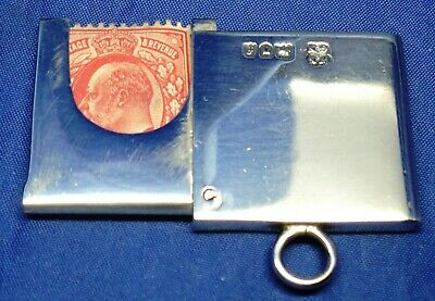 Rare Edwardian Solid Silver Flip Out Stamp Case By W&g Neal London 1901