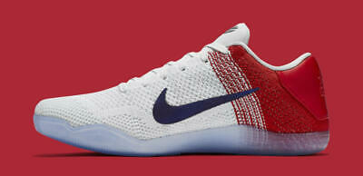 19af36384544 NIKE KOBE 11 XI Elite low size 13. USA July 4th . Red White Blue ...