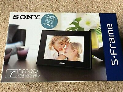 "Sony DPF-D70 7"" Digital Picture Frame New in box, never opened"