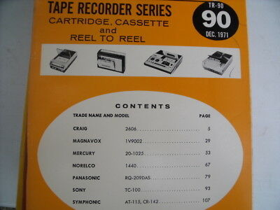 TR-90  Tape Recorder SAMS Photofact repair  manual