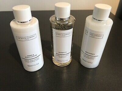 The White Company Shampoo, Conditioner And Hand & Body Lotion 100ml Each - New