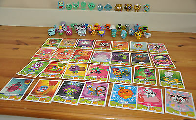 Moshi Monsters 39 Figures Including Gold Characters 28 Trading Cards Bundle Toys