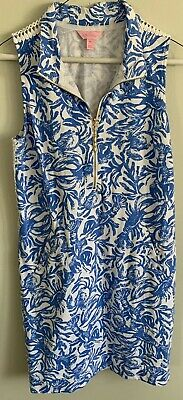 a6ca54589cda06 LILLY PULITZER SKIPPER Sleeveless Dress Medium M Bennet Blue ...