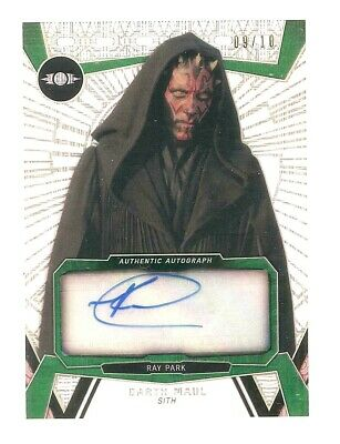 2017 Topps Star Wars High Tek Ray Park Darth Maul Gold Autograph Auto /10