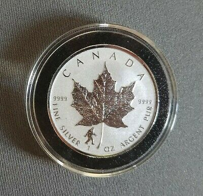BIGFOOT PRIVY - 2016 1 oz Canadian Silver Maple Leaf Reverse Proof Coin in Capsu