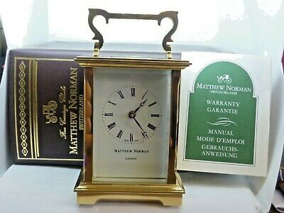 Mathew Norman brass carriage clock in super condition ( just had full service )