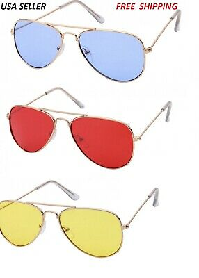 15dc1ee27e4a New Vintage Aviator Sunglasses For Boys Girls Kids Child Toddler Baby  Driving