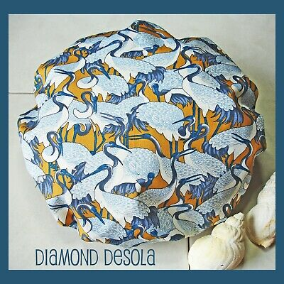 Shower Cap Japanese Cranes Bath Shower Soft & Comfortable Cotton Outer UK Gift