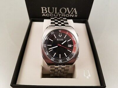 Bulova Accutron Ii 96B210  Men's Stainless Rotating Inner Bezel In Box