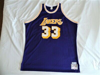3a9298d5ae3 MITCHELL NESS M N Los Angeles Lakers Kareem Abdul Jabbar Authentic Jersey  3XL 56 -  193.33