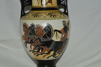 Greek Pottery Vase Museum Reproduction Replica Copy Hand made in Greece 26cm