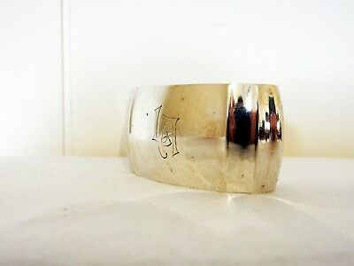 Beautiful Antique Art Deco German Solid Silver 800 Napkin Ring Silberwarenfabrik