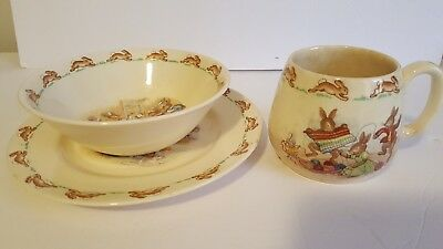 Vintage Bunnykins Made in England Royal Doulton Kids Place setting