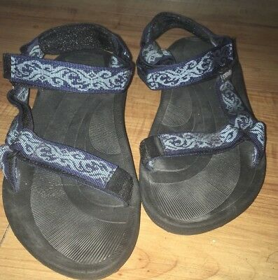 5bdb70119 Teva Torin women s Blue Floral Ankle Strap Hiking Water Sandals Size 9    6576