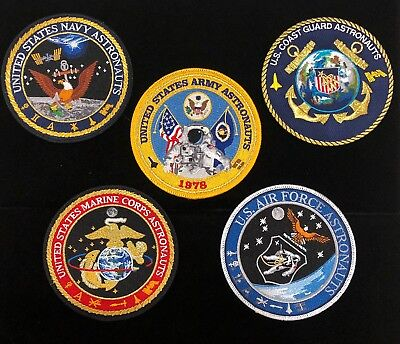All 5 United States Armed Services / Astronauts Commemorative Patches Tim Gagnon