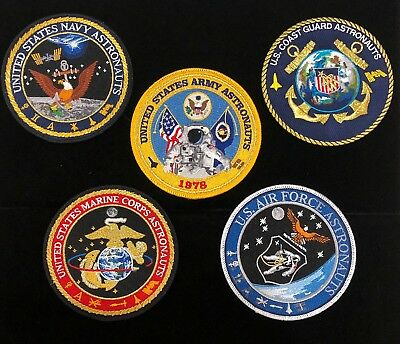 All 5 United States Armed Services / Astronauts Commemorative Patch Lot Gagnon