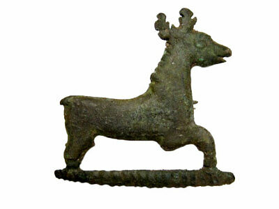 Rare Roman Period Bronze Zoomorphic Stag, Deer Fibula+++ Top Condition+++