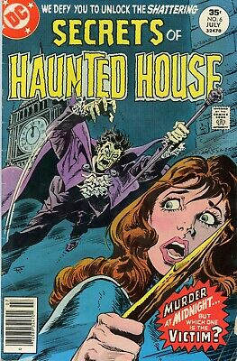 Secrets Of Haunted House #6 Dc 1977 - G/vg -- Murder At Midnight