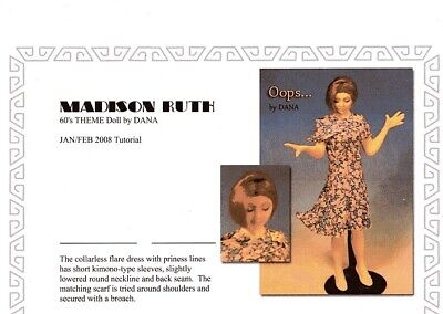 1:12 scale Miniature Doll Art Tutorials By Dana ~ Hair//wigging only ~ TRISTA