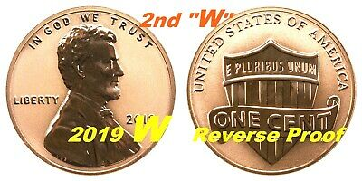 2019 2nd W West Point Premium REVERSE PROOF Lincoln Shield Cent Penny Coin