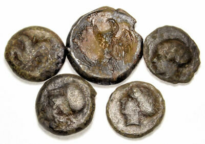 Group of 5 Ancient Greek Bronze Coins of Sicily (02)