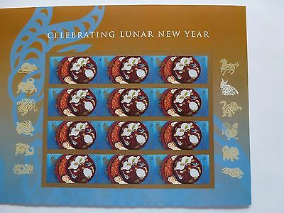 #4957 NEW/MNH~IMPERFORATE SHEET/12~2015 Lunar New Year of the Ram