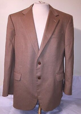 Brooks Brothers Italian Camel Hair Tan Khaki Blazer Sport Coat Jacket Sz 44 R