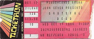 Grateful Dead Ticket Stub  10-17-1984  Meadowlands Arena