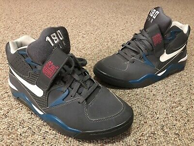 lowest price c3ef5 b102a Nike Air Force 180 Mid Dark Grey Charles Barkley s 310095-016 Size 11 Used