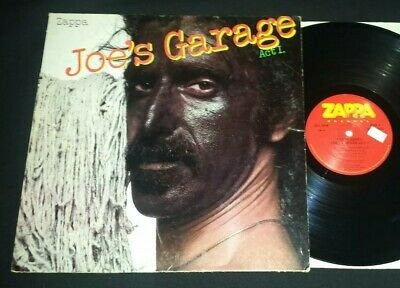 JOE'S GARAGE ACT I Frank Zappa Records LP 1979 SRZ-1-1603 ORIGINAL VG+/VG+ VINYL