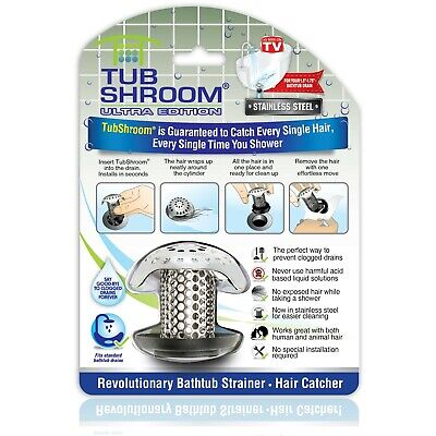 TubShroom® Ultra Drain Protector Hair Catcher Strainer in Stainless Steel (New!)