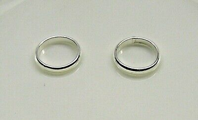 Jump ring, sterling silver, 10mm soldered round, 12 gauge x 2